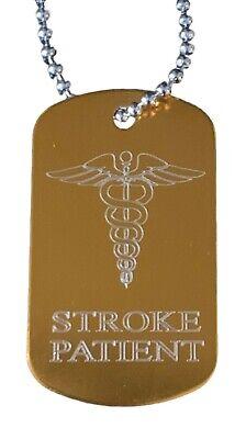 Personalizado Tiempos Paciente Alerta Médica Identificador Sos Oro Grabado Libre