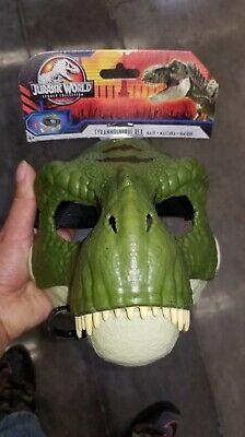 Jurassic World Park Legacy Collection TYRANNOSAURUS REX Bull Mask Green Trex HTF