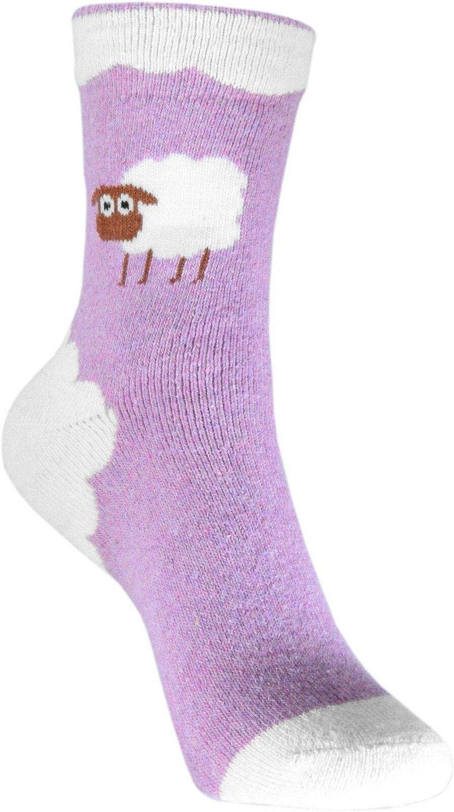 Pealu dicke SCHÄFCHEN Socken (33-40) atmungsaktiv Baumwolle warm weich Strumpf