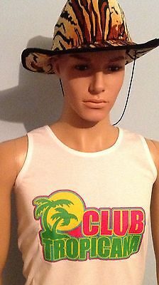 Reduced Price Over Stock Club Tropicana, Vest Top T-shirt. Fancy Dress