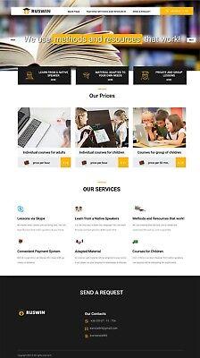 Website Mobile Responsive Design Template For Tutors Teachers Schools