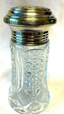 PLATED AND GLASS SUGAR SIFTER  6