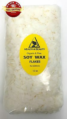 SOY AKOSOY WAX FLAKES ORGANIC VEGAN PASTILLES FOR CANDLE MAKING 100% PURE 12 OZ Candles Organic Soy Wax