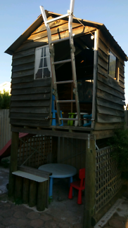 Cubby house, timber