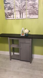 """Ikea extendable bar table 35"""" height , width is 15"""" L= 62"""""""