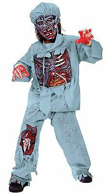 Zombie Doctor Costume for Kids size 12-14 New by Fun World - Zombie Costumes For Children