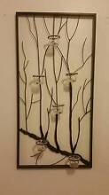 Metal wall hanging with tea light candle holders Mount Annan Camden Area Preview