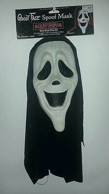 Scary Movie~Scream Ghostface Smiley Mask~Black/White~NWT Extremely Rare