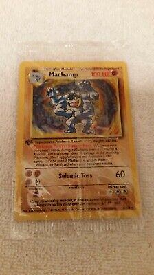 Pokemon TCG Base Set MACHAMP 8/102 1st Edition English Holo SEALED