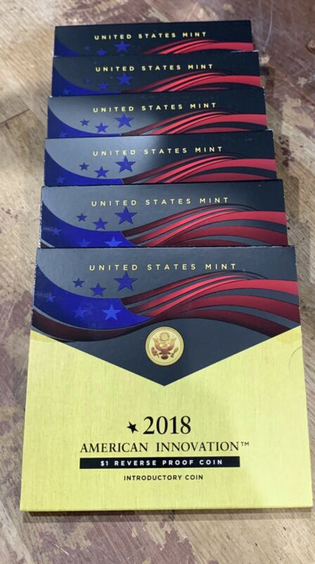 2018 S REVERSE PROOF American Innovation Introductory Dollar Coin $1 In Stock!!