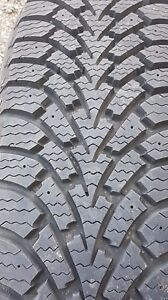 Winter Tires by Goodyear Size 225/65R17 with Black Steel Rims