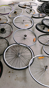Bike wheels and Rims  BMX 20 inch $20 each  24 $20 etch  26 inch Ascot Belmont Area Preview
