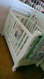 BRAND NEW Sleigh Baby Cot+Drawer(white) Eight Mile Plains Brisbane South West Preview