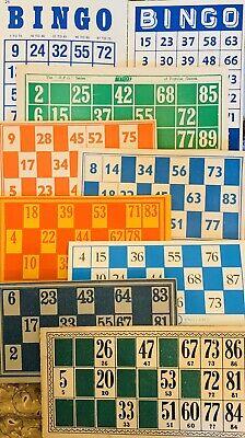 9 Mixed Vintage Bingo Cards