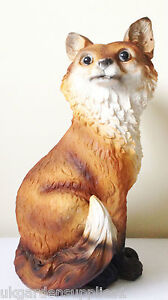Large Mother Fox Animal Resin Garden Ornament - Wildlife - Figure - Statue