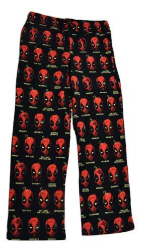 Marvel Mens Deadpool Expressions Pajama Lounge Sleep Pants New S, M, L, XL