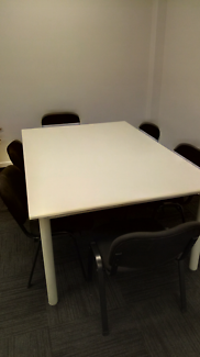 Meeting Table with 6 Chairs