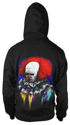 Its Playtime Kapuzenpullover Sweatshirt Hoody Horror Clown Maske Film Movie (Kapuzen Maske)