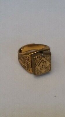 1940s Jewelry Styles and History VINTAGE 1940s 50s Tom Mix TM Ralston Cereal Premium Toy  Ring STANHOPE is BAD $28.20 AT vintagedancer.com