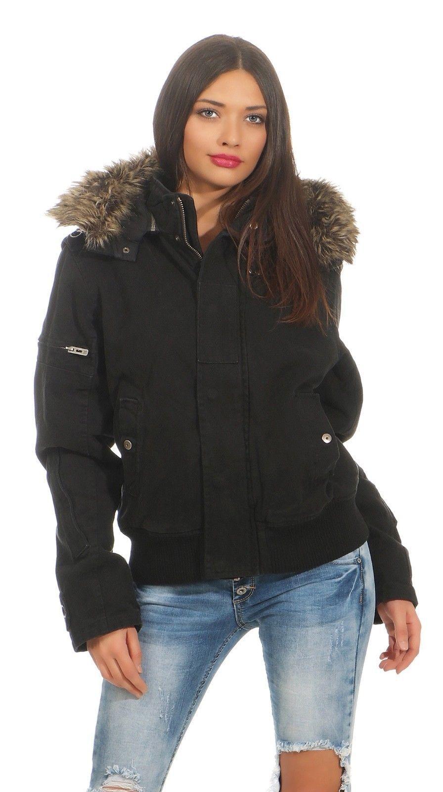 Perso Scott Fox  Damen Jacke Farbe schwarz black Winterjacke Damenjacke Winter
