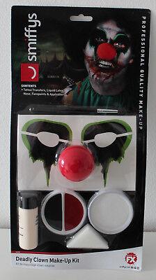Smiffys Deadly Clown Make Up Kit Clown Make Up Set NEU ()