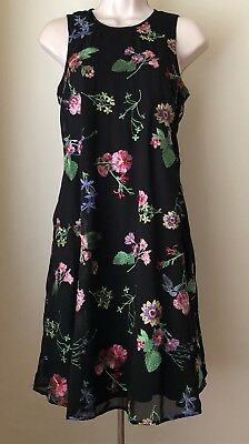- Calvin Klein Floral Embroidered Trapeze Dress CD8H47NJ NWT Size 2, 4, 6, 8