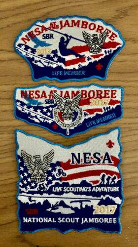 BSA 2017 National Scout Jamboree NESA Life Member Patch Set
