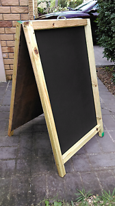 Large chalkboard wooden a frame advertising board Banyo Brisbane North East Preview