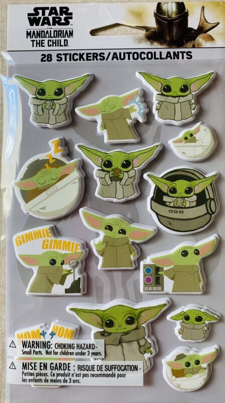 Star Wars  Mandalorian the child Yoda Stickers New ONLY  A FEW LEFT