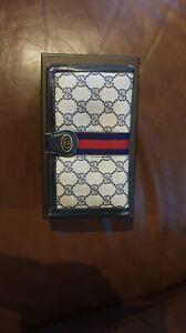 Gucci Monogram Bi-gold wallet