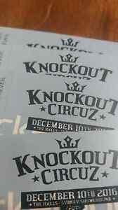 3x Knockout circuz hardcopy tickets urgent Five Dock Canada Bay Area Preview