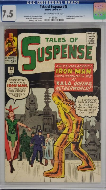 TALES OF SUSPENSE #43 CGC 7.5 IRON MAN