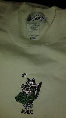 Kliban Cat Tank Top Sz S Hawaiian  Hula Dancer Kitty Vintage 1980's Sweatshirt