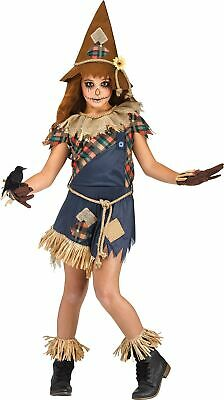 Scary Girls Costume (Scary Crow Scarecrow Dress Child Girls Costume NEW)