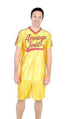 Adult Yellow Sports Comedy Movie Dodgeball Average Joe's Costume Jersey Set](Comedy Costumes)