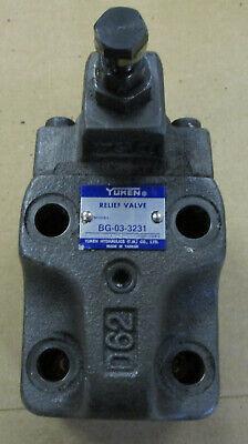 Yuken Bg-03-3231 Hydraulic Relief Valve Used New I7