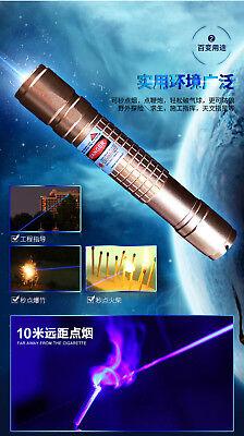 2W B900 450nm Adjustable Focus Blue laser pointer Burn Matches Light Cigarettes