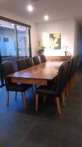 Quality solid extension dining table in Tasmanian Blackwood Brunswick West Moreland Area Preview