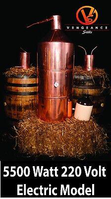 40 Gallon 5500 Watt ELECTRIC Copper Moonshine Still Complete Kit w/ Worm & Thump