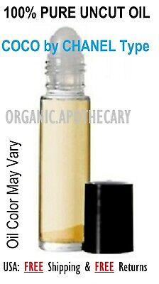 Coco Chanel Women Type Perfume Body Oil 0.3oz 10 ml rollon NEW!! ALCOHOL (Coco Chanel Type)