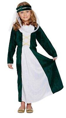 Mädchen Mittelalterliche Maid Kostüm Maid Marion Outfit Ages 4-9 Jahre - Maid Marion Mädchen Kostüm