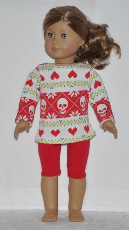 Red Handkerchief Print Capris Set American Girl Doll