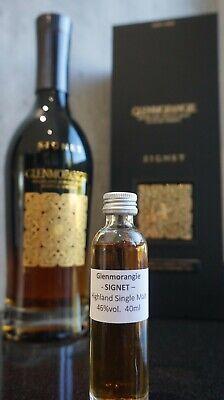 Glenmorangie SIGNET Highland Single Malt Whisky Sample 40 ml Probe Dram 4 cl