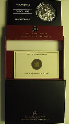 2005 PROOF $30 WELCOME TOTEM CANADA .925 SILVER THIRTY DOLLARS