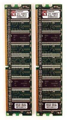 Kingston KTA-G5400/1G (1GB DDR PC3200U 400MHz DIMM 184-pin) Memory (Kit of