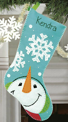 Dimensions Felt Embroidery Kit - Felt Embroidery Kit Dimensions Catching Snowflakes Christmas Stocking #72-08189
