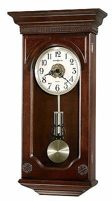 625-384  JASMINE  HOWARD MILLER WALL CLOCK  DUAL CHIMES AND AUTO NITE OFF 625384