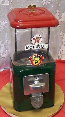 Vintage Oak gumball machine Texaco decor