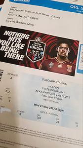 State of Origin Tickets*2 Brisbane City Brisbane North West Preview
