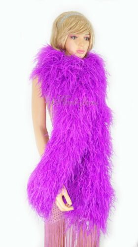 """lavender Luxury Ostrich Feather Boa 20 ply long 71"""" (180 cm )"""